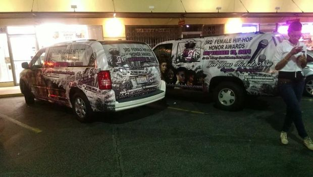 Look Out for the 3rd Female Hip Hop Honor Awards Promo Van in L.A.